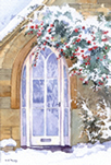 Winter doorway - watercolour by Dorothy Pavey